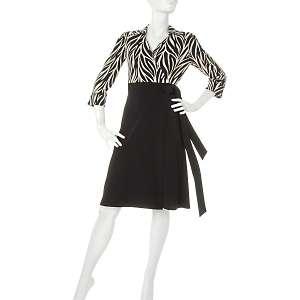 Tiana B. Zebra Print Wrap Dress