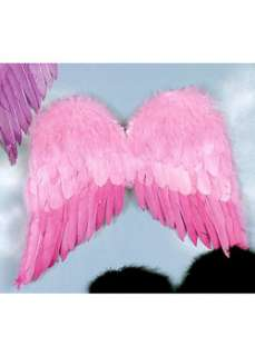 Pink Economy Feather Wings Adult