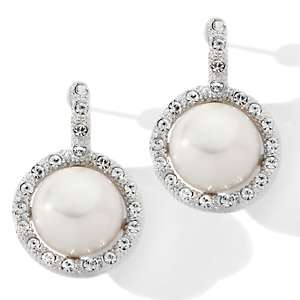 Designs by Veronica™ Cultured Freshwater Pearl and Clear Crystal