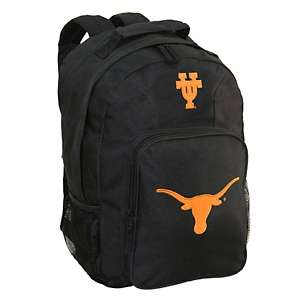 Concept One NCAA Black Backpack with Team Logo   Texas Longhorns at