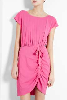 Love Moschino  Pink Rouched Bow Dress by Love Moschino