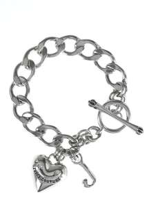 Silver Starter Charm Bracelet by Juicy Couture Accessories   Metallic