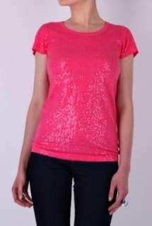 Watermelon Short Sleeve Sequinned Tee by DKNY   Pink   Buy Tops Online