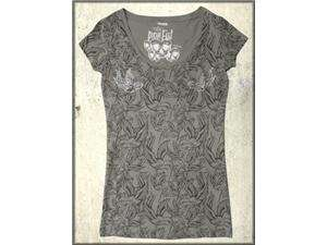 Iron Fist Fire Swallow Tattoo Birds Rhinestone Womens Short Sleeve