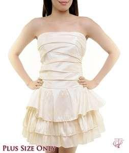 WOMANS PLUS SIZE SEMI FORMAL IVORY DRESS 1XL NEW