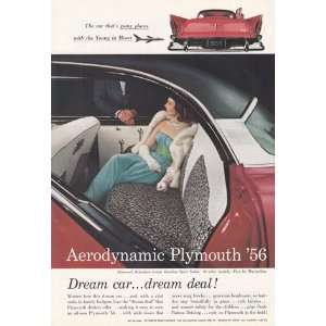 Print Ad 1956 Aerodynamic Plymouth Belvedere Plymouth Books
