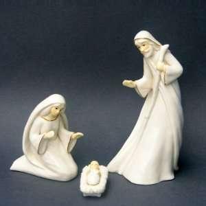 Set of 3 Porcelain Religious Holy Family Christmas Nativity Figures