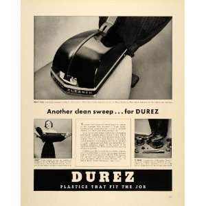1939 Ad Durez General Plastics Hoover Vacuum Cleaners