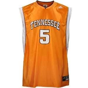 adidas Tennessee Volunteers #5 Orange Replica Basketball