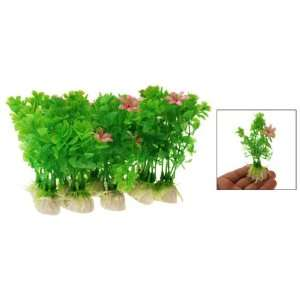 Green Plastic Grass Fish Tank Decor Aquarium Plants