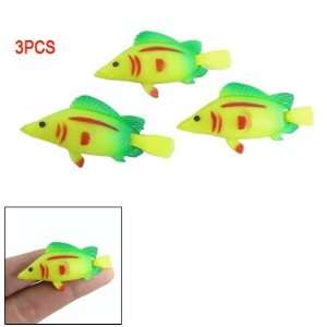 Plastic Tropical Fish Floating Aquarium Ornament 3 Pcs