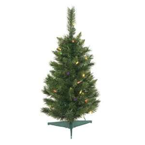 Pine Artificial Christmas Trees   Multi Lights 2