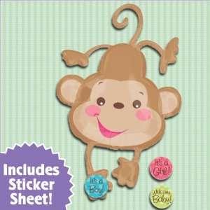 Baby Monkey   26 Super Shaped Mylar Baby Shower Balloon Toys & Games