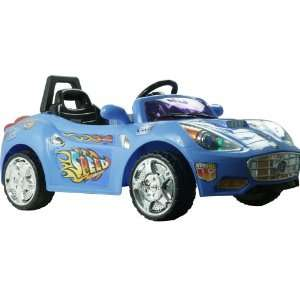 Super Sport Battery Operated Sports Car with Remote Blue Toys & Games