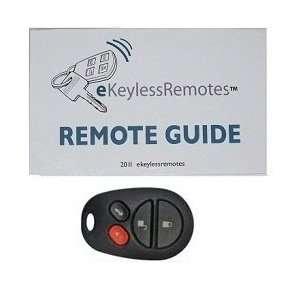 2004 2008 Toyota Camry Solara Keyless Entry Remote Fob Clicker With Do