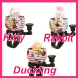 Bicycle Bell   Rabbit, Kitty, Duck Bicycle Bell: Sports & Outdoors
