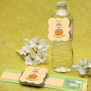 Pumpkin Caucasian Birthday Party Water Bottle Labels Toys & Games