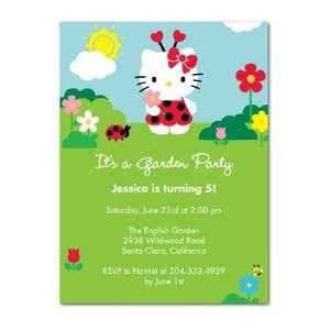 Birthday Party Invitations   Hello Kitty Garden Friends