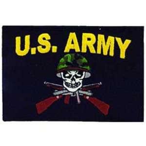 Army Skull & Rifles Patch Black & Yellow 4 Patio, Lawn & Garden