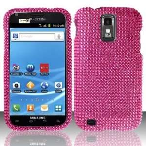PINK Hard Plastic Bling Rhinestone Case for Samsung