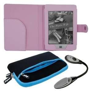 Premuim skque blue glove series case+skque pink leather