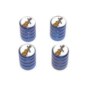 Music Musical Instruments   Tire Rim Wheel Valve Stem Caps   Blue