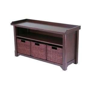 Bench with Storage shelf and 3 Small Baskets; 2 cartons