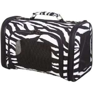 Black Trim Zebra Pet Dog Cat Carrier   15