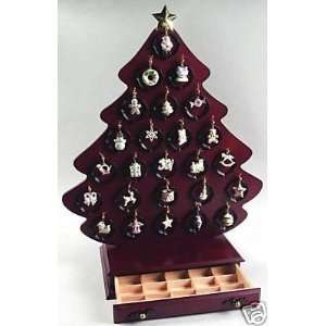 Lenox Christmas Advent Calendar Set of 25 Jeweled Ornaments: