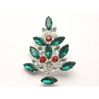 Rhinestone Christmas Tree Holiday Fashion Jewelry Pin Brooch Jewelry