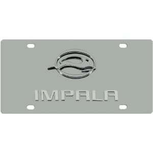 Chevy Impala Chrome Logo + Name On Polished Chrome License