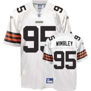 Jersey Reebok White Replica #95 Cleveland Browns Jersey Sports