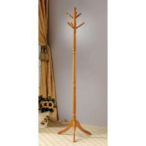 Traditional Style Solid Wood Entryway Hall Tree Coat Rack Hanger In