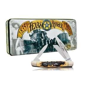 Jr. Folding Knife with Texas Rangers 175th Anniversary Collectors Tin