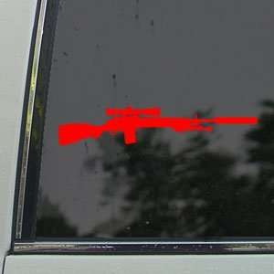 M14 M21 Crazy Horse M21A5 Rifle Red Decal Car Red Sticker