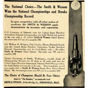 1911 Ad Smith Wesson Pistol Gun Firearm Crossman Whigam   Original