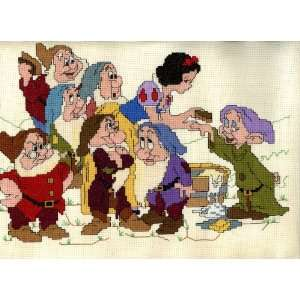 Disney Snow White and the Seven Dwarfs Finished Counted Cross Stitch