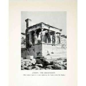 Greece Statue Lord Elgin   Original Halftone Print