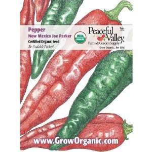 Organic Pepper Seed Pack, New Joe Parker: Patio, Lawn
