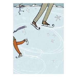 Ice Skating Rink Giclee Poster Print  Home & Kitchen