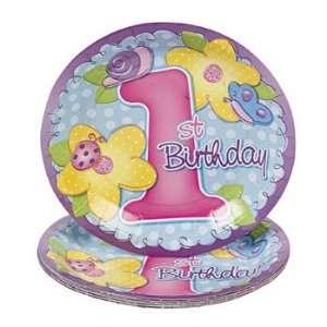 8 1st Birthday Girl Dessert Plates   Tableware & Party