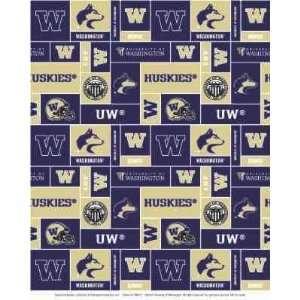 University of WashingtonTM HuskiesTM Fleece Fabric Print By the Yard