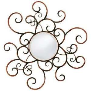 Bronze Finish Wrought Iron Accent 35 High Mirror: Home & Kitchen