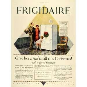 1927 Ad Antique Frigidaire Christmas Refrigerator Price