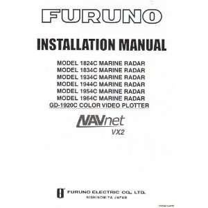 Furuno Installation Manual for NAVnet vx2 models 1824C 1834C 1934C