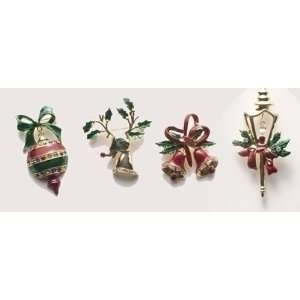 Christmas Jewelry Gold Plated Lapel Giftware Pins