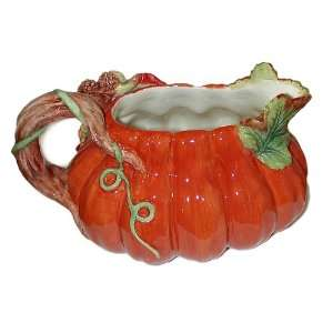 Spode Harvest Pumpkin Gravy Boat with Tray