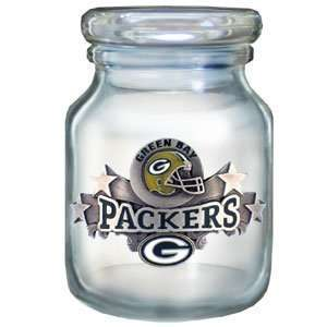 Green Bay Packers Logod Candy Jar   NFL Football Fan Shop