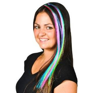 Blue Purple Red Crazy Colored Clip in Hair Extensions