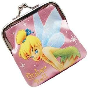 Disney Princess Tinkerbell Mini Coin Purse Wallet Pink